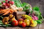 photo of harvest, radish, carrot, tomato, lettuce, basil, onion